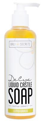 Bottle of Lemongrass Castile Soap by Bali Secrets isolated on white background